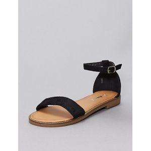 Sandales à strass noir - Taille 38