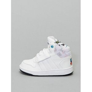 Baskets montantes à scratch 'adidas Hoops' blanc - Taille 26