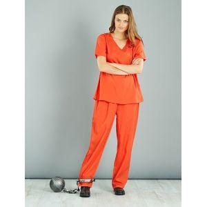Déguisement de détenue orange - Taille M/L