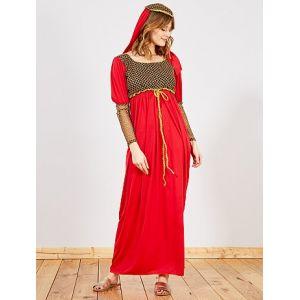 Déguisement de femme médiévale rouge/or - Taille L/XL