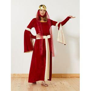 Déguisement de princesse médiévale rouge - Taille 1