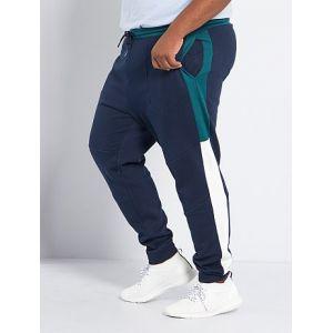 Pantalon de sport color block éco-conçu bleu marine/vert - Taille 6XL