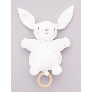 Peluche lapin musicale BLANC - Taille TU
