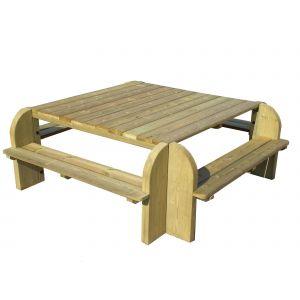 table carree 160x160 comparer 50 offres. Black Bedroom Furniture Sets. Home Design Ideas