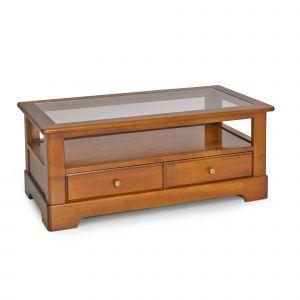 table basse salon merisier et verre comparer 9 offres. Black Bedroom Furniture Sets. Home Design Ideas