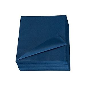 Serviette de table bleu marine non tissé 40 x 40 cm - Lot de 50