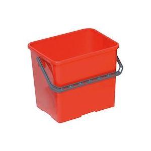 Seau de lavage professionnel rouge 6 litres