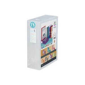 Boîte de classement plastique Viquel translucide personnalisable dos 10 cm - incolore - Lot de 4
