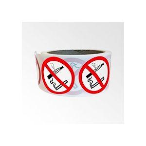 Rouleau de Pictogrammes d'Interdiction - Interdiction de fumer et vapoter  - 50 mm