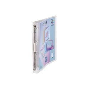 Classeur 4 anneaux plastique Viquel A4 personnalisable dos 3,5 cm couleurs translucides assorties - Lot de 12