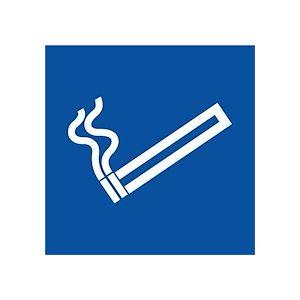 Pictogramme Cigarette pour Zone Fumeur  - 315 x 315 mm - Vinyle Souple Autocollant - Lot de 2