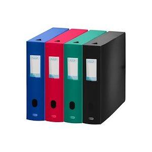 Boîte de classement plastique Elba Memphis dos 8 cm couleurs assorties classiques - Lot de 8