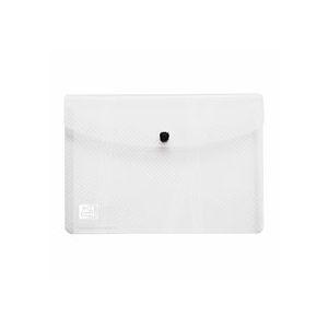 Chemise de présentation à pression Elba 18 x 25,5 cm incolore - Lot de 5