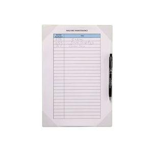 Sachet de 2 Pochettes Kang porte-copie blanc dos adhésif reposit., porte-stylo L35,5xH24,3 cm