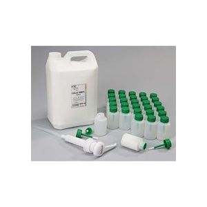 Lot 1 jerrycan 5L de colle vinylique, 1 pompe 20ml, 30 flacons-pinceaux anti verse 80 ml vides
