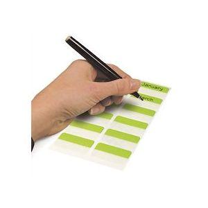 Boîte 24 Index Quick Tab Duo adhésifs double face repositionnable - L40 x H12 mm - Assortis