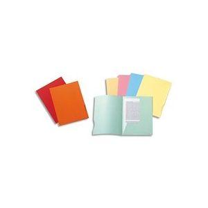 Paquet 50 chemises 2 rabats carte 210g SUPER 250. Coloris assortis bleu/bulle/jaune/rose/vert