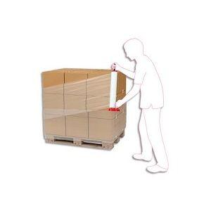 Bobine de film étirable manuel cast Super 20 Transparent 20 microns - H45 cm x L300 métres - Lot de 6