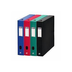 Boîte de classement plastique Elba Memphis dos 6 cm couleurs assorties classiques - Lot de 10