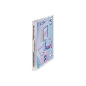 Classeur 4 anneaux plastique Viquel A4 personnalisable dos 2,5 cm incolore