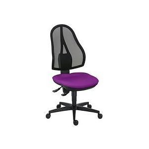 Siège de bureau Open Point dossier maille contact permanent assise violet