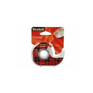 Ruban adhésif Crystal transparent 19mmx25m, sur dévidoir - Lot de 3