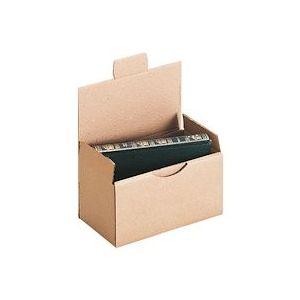 Boîte postale kraft brun simple cannelure H 10 x L 10 x P 20 cm - Lot de 50