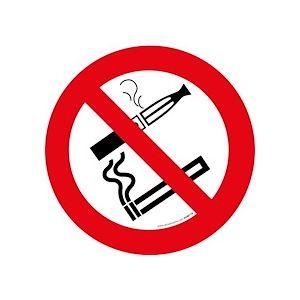 Pictogramme d'Interdiction - Interdiction de fumer et vapoter  - Vinyle Souple Autocollant - 200 mm - Lot de 2