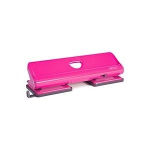 Perforateur de bureau 4 trous Rapesco fuchsia - capacité 22 feuilles