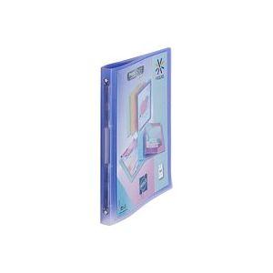 Classeur 4 anneaux plastique Viquel A4 personnalisable dos 2,5 cm mauve translucide