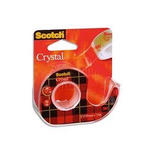 Ruban Crystal transparent 19mm x 7,5m sur dévidoir - Lot de 8