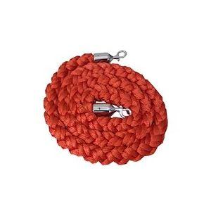 Corde tressée rouge pour poteau de guidage