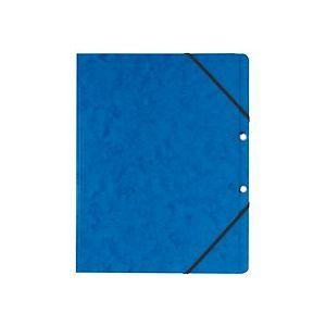 Chemise à élastique sans rabat Exacompta 24 x 32 cm - bleue - Lot de 10