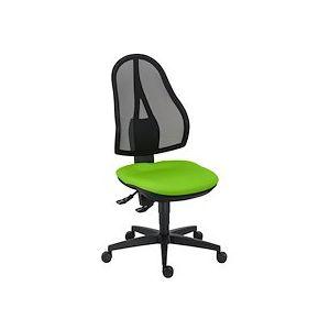 Siège de bureau Open Point dossier maille contact permanent assise verte