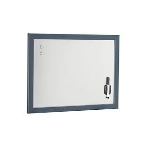Tableau argenté L 60 x H 45 cm bleu