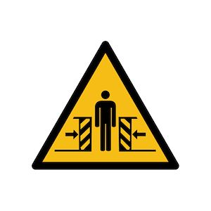 Pictogramme de danger ISO EN 7010 - Ecrasement - W019  - PVC - 200 mm