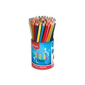 Pot de 72 crayons de couleur ColorPeps en pot - Lot de 3