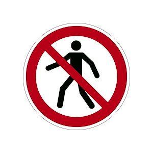 Pictogramme adhésif antidérapant - INTERDIT AUX PIETONS