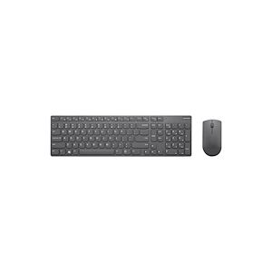 Lenovo Professional Ultraslim Combo - Ensemble clavier et souris - sans fil - 2.4 GHz - français - gris de fer - pour ThinkCentre M90n-1 IoT, ThinkPad P1 (2nd Gen), X1 Carbon (7th Gen), X1 Extreme (2nd Gen)