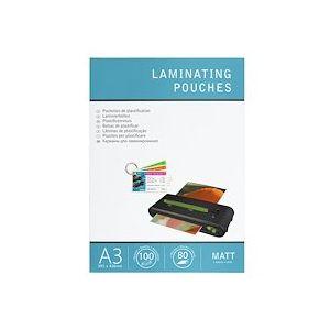 Boîte 100 pochettes de plastification A3 2 x 80 µ Fellowes