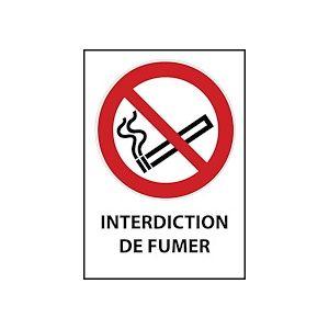 Panneau ISO EN 7010 - Interdiction de fumer - P002  - Vinyle Souple Autocollant - A5 - Lot de 3