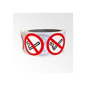Rouleau de Pictogrammes d'Interdiction ISO EN 7010 - Interdiction de fumer - P002  - 25 mm