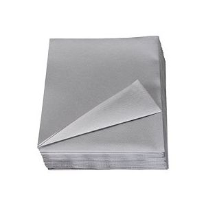 Serviette de table gris non tissé 40 x 40 cm - Lot de 50