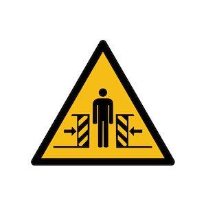 Pictogramme de danger ISO EN 7010 - Ecrasement - W019  - PVC - 100 mm - Lot de 3