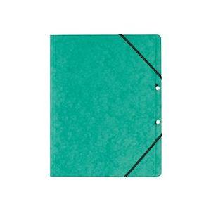 Chemise à élastique sans rabat Exacompta 24 x 32 cm - verte - Lot de 10