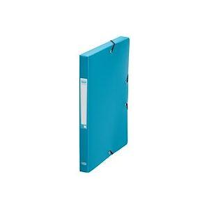 Chemise box Elba Memphis plastique 24x32 cm dos 2,5 cm - couleurs mode assorties - Lot de 12