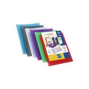 Protège document 40 vues  Coloris assortis : Incolore-Vert-Rouge-Bleu-Violet - Lot de 15