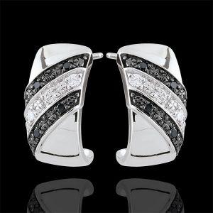 Boucles d'oreilles créoles Clair Obscur - Crépuscule - diamant