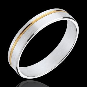 Alliance Mathis - or blanc et or jaune 18 carats