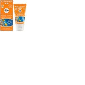 Crème fluide Teintée solaire très haute protection SPF 50+ Alphanova